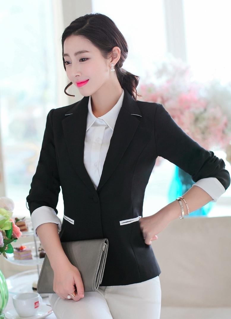 Áo vest nữ một nút hai túi xinh xắn