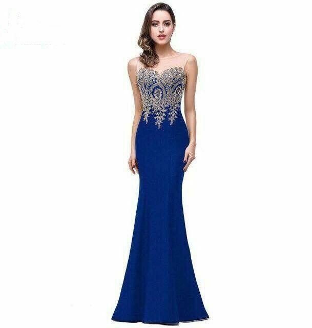 Đầm Dạ Hội Đuôi Cá Kết Ren Phần Ngực - đầm dạ hội cao cấp