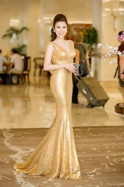 Đầm dạ hội maxi kim sa đuôi cá sang trong - đầm dự tiệc ban ngày