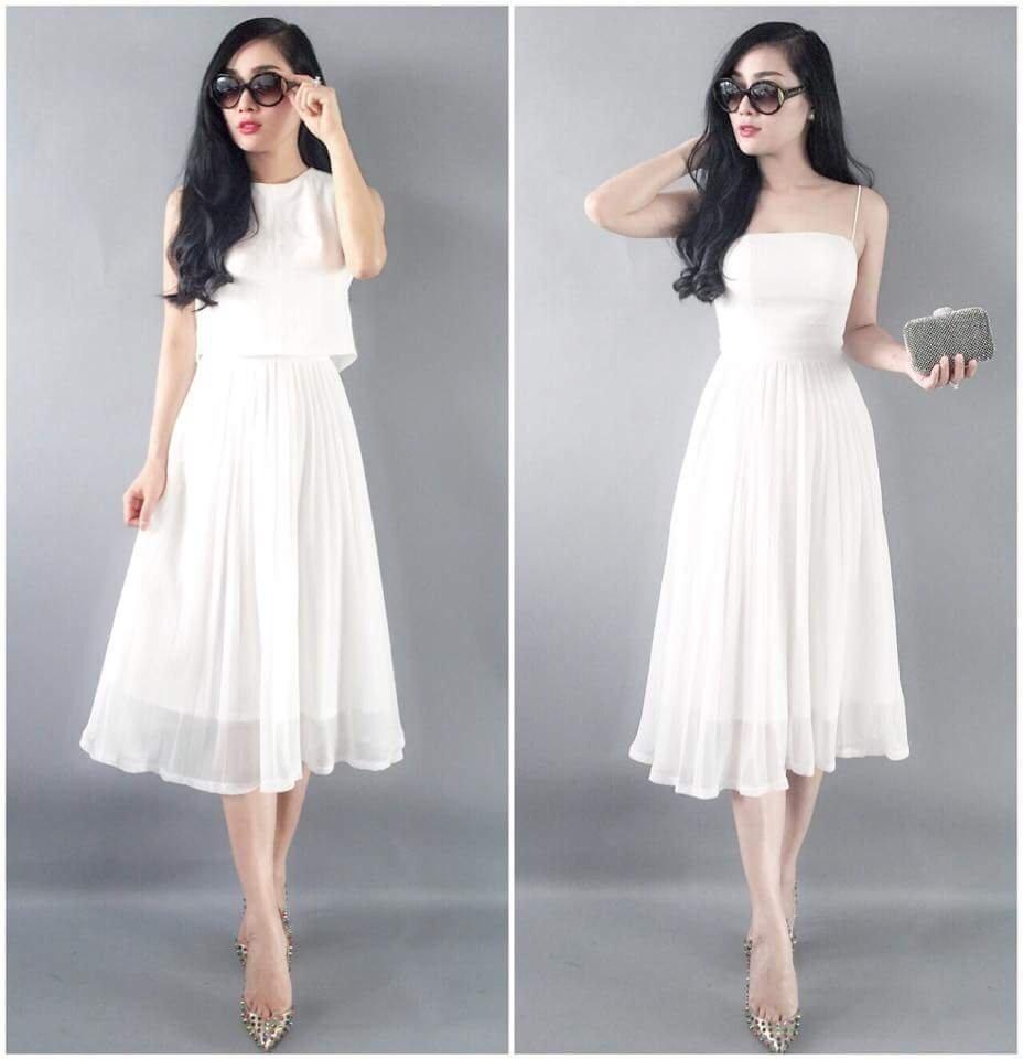 Thời trang nữ: Các chị em không thể bỏ qua 6 mẫu đầm dự tiệc cưới sang trọng này Dam-maxi-dap-ly-2-day-kem-ao-khoac-mau-trang-25565j